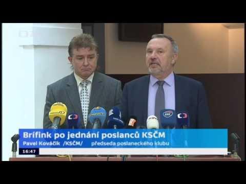 Tisková konference poslaneckého klubu KSČM 25. 10. 2016