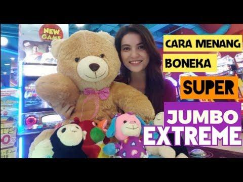 CARA MENANG BONEKA JUMBO EXTREME!! CARA MENANG CAPIT BONEKA BESAR TIMEZONE| LIPPO MALL PURI