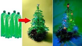 Как сделать новогоднюю елочку из пластиковой бутылки - поделки из пластиковых бутылок