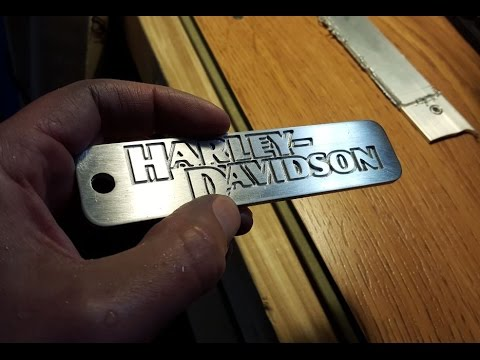 Aluminum Logo Carving - On A Modified CNC