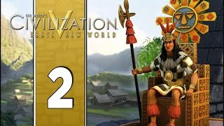 Early Machu - Let's Play Civilization V Gameplay (Deity Gameplay) - Incas - Part 2