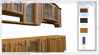 Смена текстур на 3d фасадах в pro100
