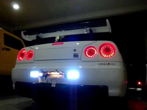 Jdm Car Wallpaper 1920x1080 Bnr34 V Spec Ii Nur With Complete Rear Led S Youtube
