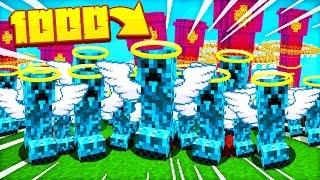 1000 DOBRYCH CREEPERÓW vs NETHEROWA WIEŻA!! - TYSIĄC MOBÓW w MINECRAFT #3