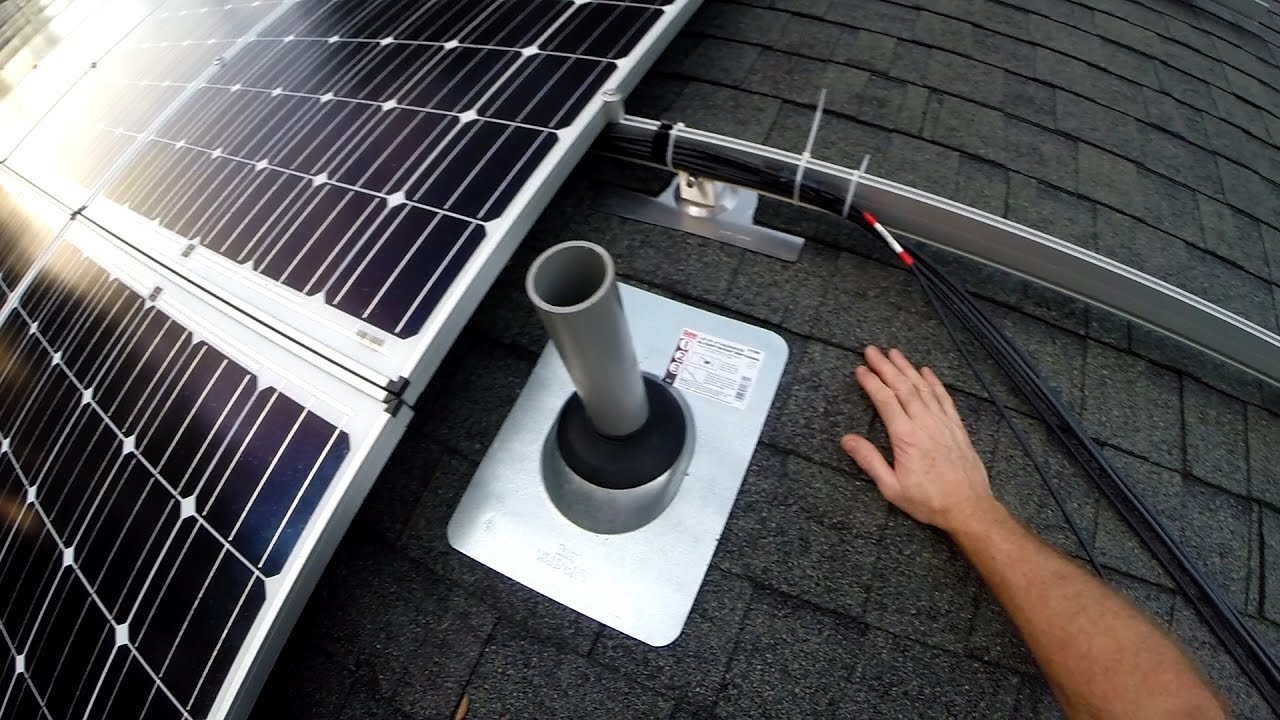 off grid solar 34 wiring solar panels to combiner boxes [ 1280 x 720 Pixel ]