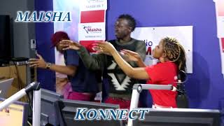 Konnect Fun moment.Clemmo, Mwende dancing in studio.