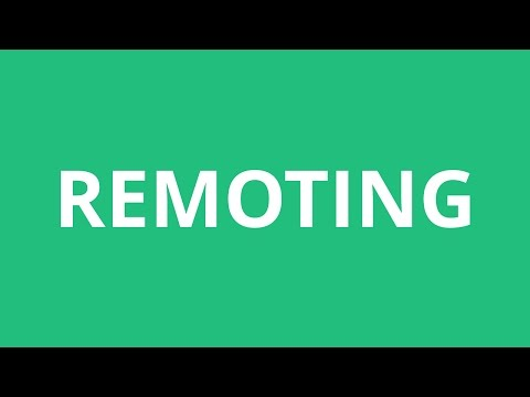 How To Pronounce Remoting - Pronunciation Academy