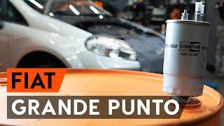 Hoe een brandstoffilter vervangen op een FIAT PUNTO 199 [AUTODOC-TUTORIAL]