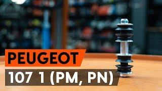 Skifte Lenkearm PEUGEOT 107: verkstedhåndbok