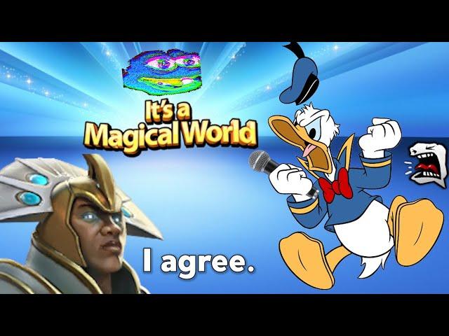 Donald Duck Goes Wild On The Mic In Dota 2 (W/ Lacari As Donald)