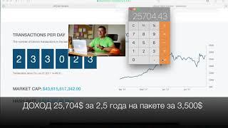 Пакет 3500$ расчёт прибыли пассивного дохода Bitclub Network ОТЗЫВЫ