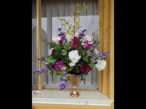 Como hacer un florero sencillo by suzy avila youtube - Adornos florales para casa ...