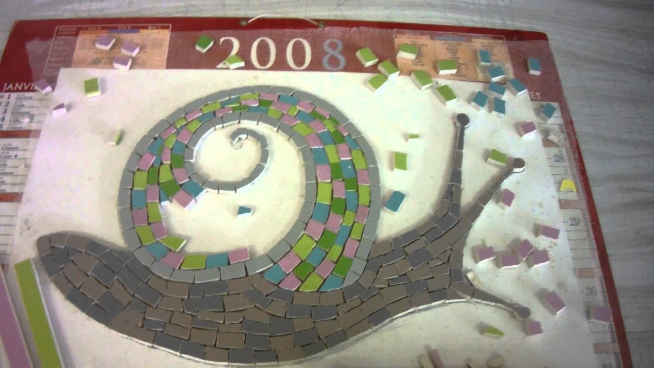 Decoration Murale Terrasse Video Comment Réaliser Un Escargot En Mosaïque Sur Un