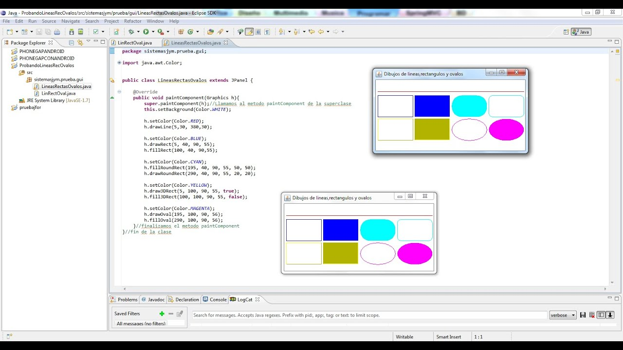 Tutorial N4 Graphic2D en JAVA Eclipse  Netbeans Lineas