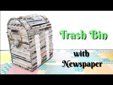 cara membuat tempat sampah dari kertas koran  / DIY kerajinan Tangan