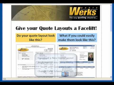 quotewerks downloading and customizing a new quote layout