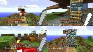Minecraft Kinect Xbox 360 Multiplayer Gameplay