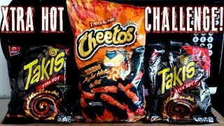 Flamin' Hot Cheetos and Xtra Hot Takis Challenge *SOLO* | FreakEating vs the World 85