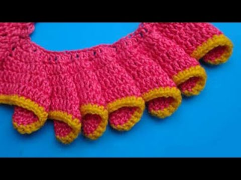 How To Crochet Frill как вязать волан рюши мастер класс 12 Youtube