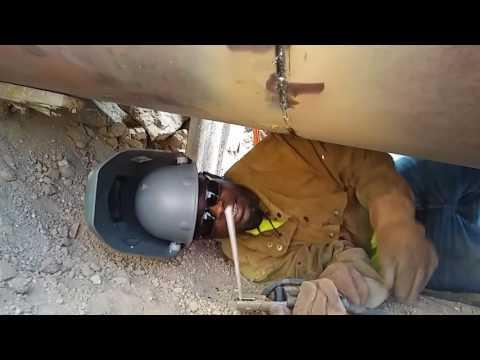 """Black Feniks welding 60"""" pipe"""