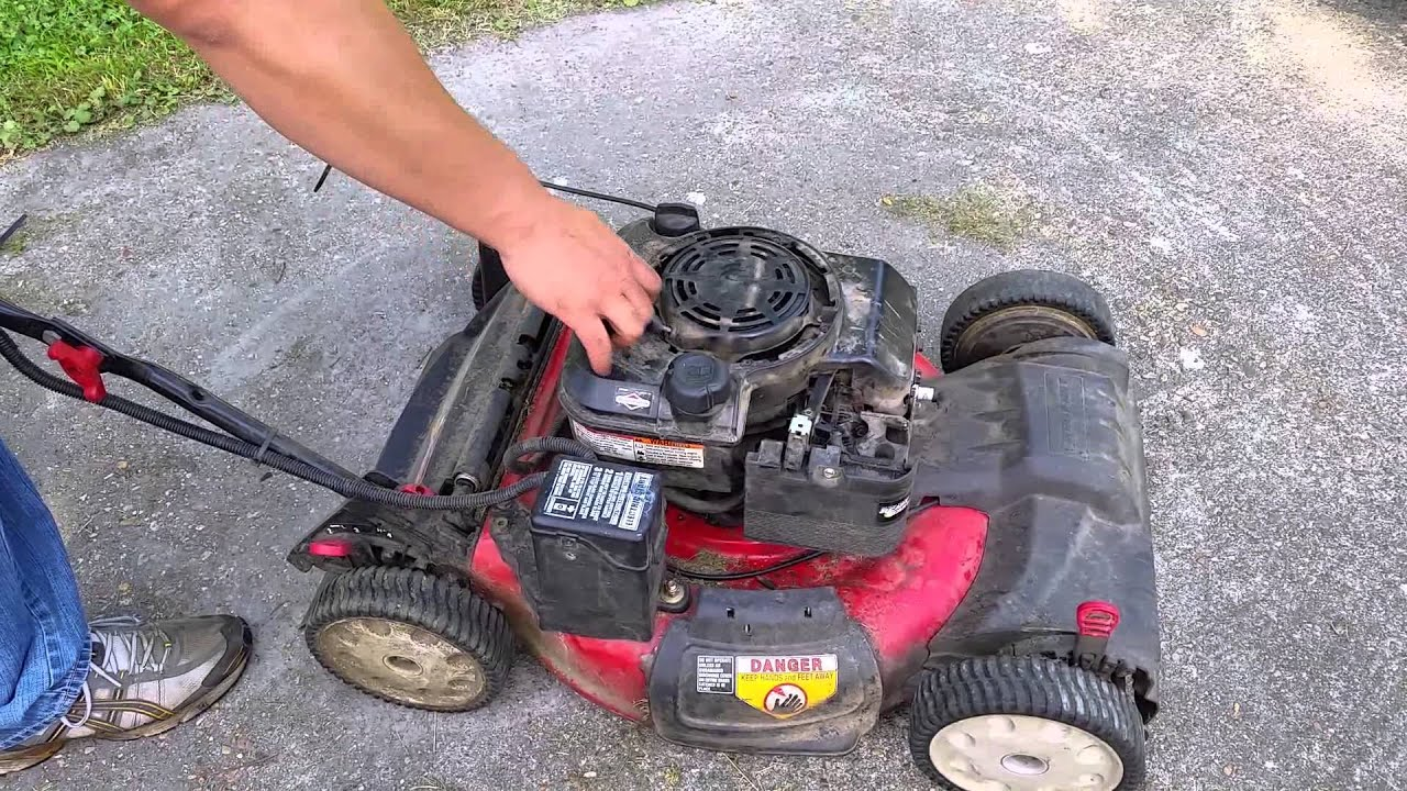 briggs and stratton oil change 3 gang one way switch wiring diagram lawn mower won 39t start youtube