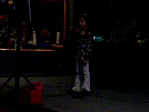 Alexis at karaoke wed night at sss