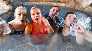 Last To LEAVE HOT TUB Wins $10,000 - Challenge!