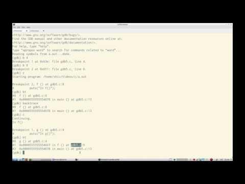C Programming GDB Debugging Part 6 Backtracing