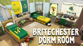 Britechester Dorm Room || The Sims 4 Discover University: Speed Build