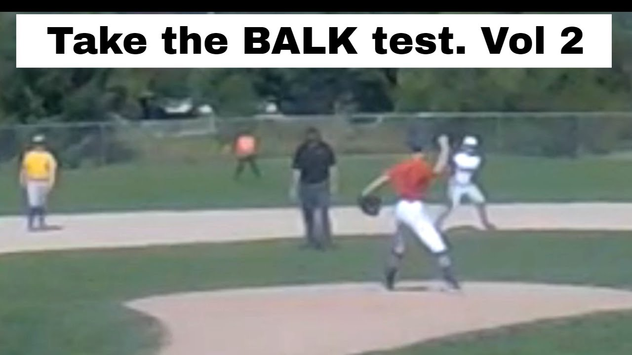 The BALK in baseball. Test your knowledge.