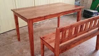 참죽나무 식탁과 벤치의자
