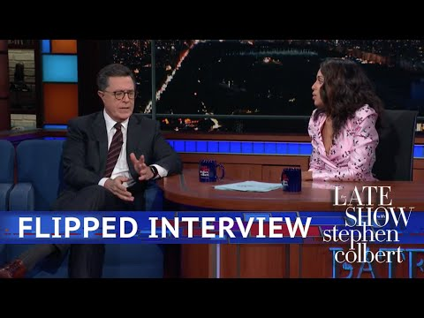 Flipped Interviews: Late Show Guests Interview Stephen