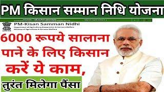 #PM_kisan_samman_nidhi_yojna_2019 में 6000₹ सालाना पाने के लिए किसान करें ये काम तुरंत मिलेगे पैसे ₹