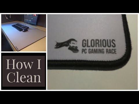 """How to clean the Glorious 3XL Extended - 24""""x 48"""" - White Edition"""