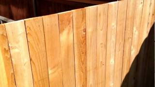 Wood Fence Swing Gate