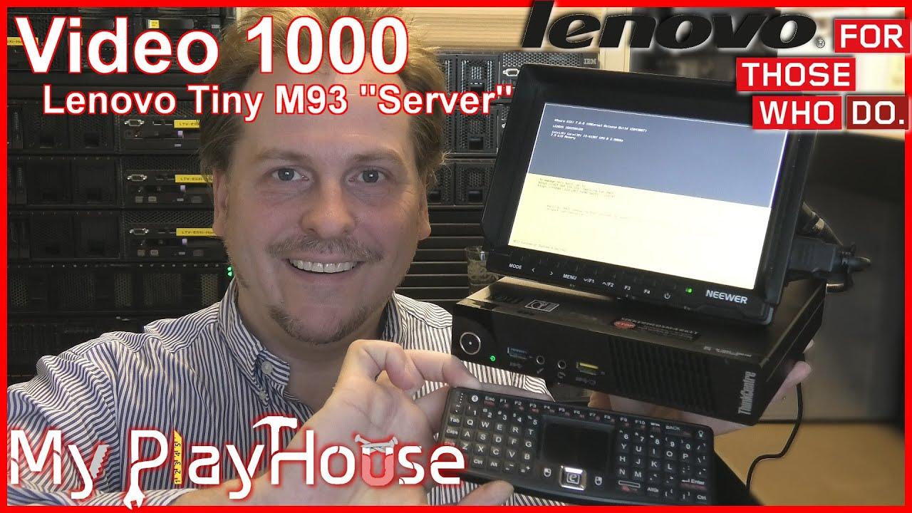 Celebrating video No.1000 - Revealing Lenovo M93 Tiny Server - 1000