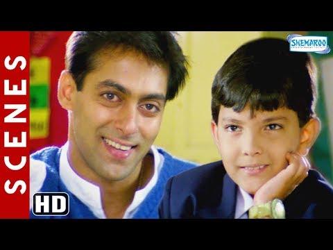 Salman Khan & Aditya Narayan Scenes [HD] Jab Pyaar Kisise Hota Hai - Father Son Videos - Hindi Movie