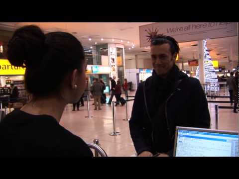 Royd Tolkien at Air New Zealand Check In  London HR