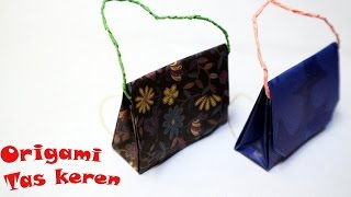 Tutorial cara membuat origami bentuk tas kado mudah