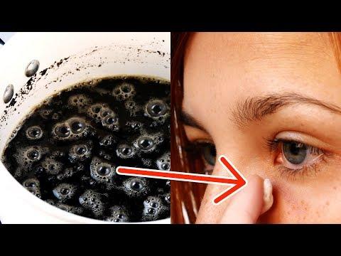 コーヒーを目の周りに塗る。2分後に見違えるように!