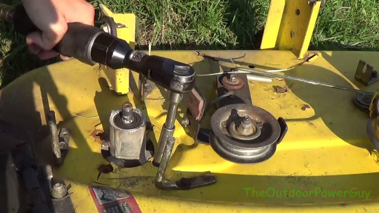 Maxresdefault on John Deere 42 Mower Deck Belt Diagram
