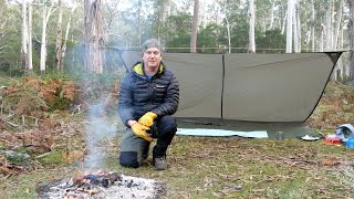 Solo off-track hike and tarp camp in the rugged Australian wilderness