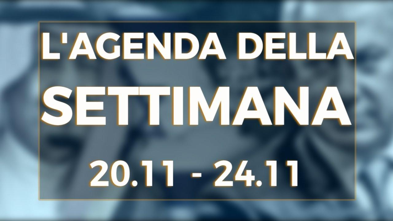 PTV News - L'agenda della settimana dal 20.11.17 al 24.11.17