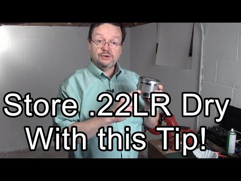 Store .22LR ammo dry with this simple tip!