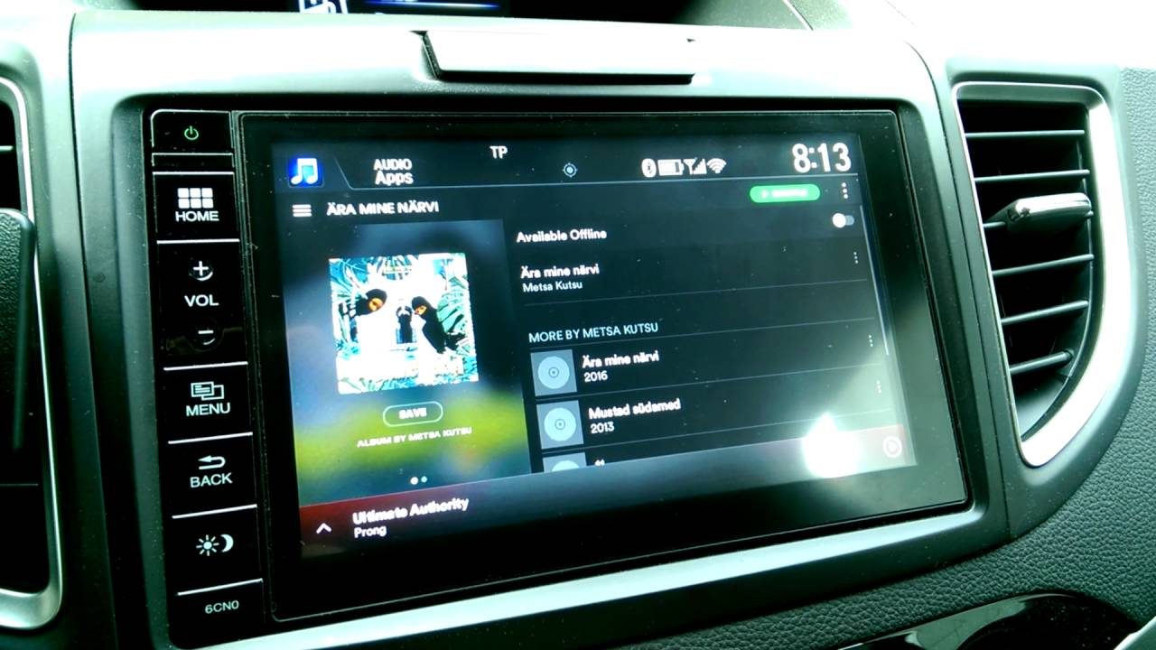 Honda Connect (HondaLink) install Spotify - YouTube