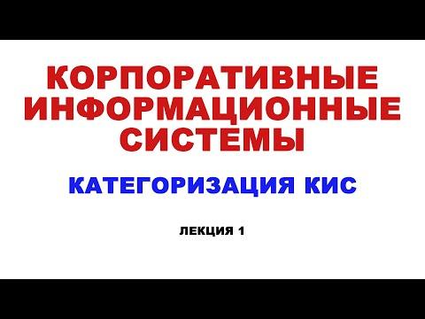 Корпоративные информационные системы. Лекция 1. Категоризация КИС.