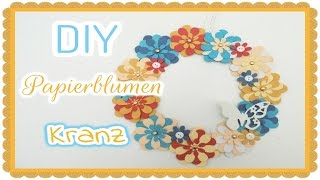Gambar cover DIY - Papierblumen-Kranz [Tutorial] | Bastel-Fee