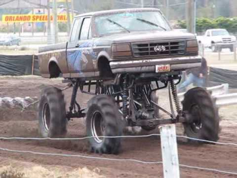 Trucks Gone Wild Tri Truck Challenge Bithlo Mud Racing Chevy gone bad, batman, white GMC