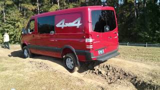 Mercedes-Benz Sprinter 2015 4x4 demo(While the Sprinter 4x4 is not officially considered an off-roader, its capability will certainly be appreciated on construction sites, oil fields, and in foul weather ..., 2014-10-29T13:19:56.000Z)