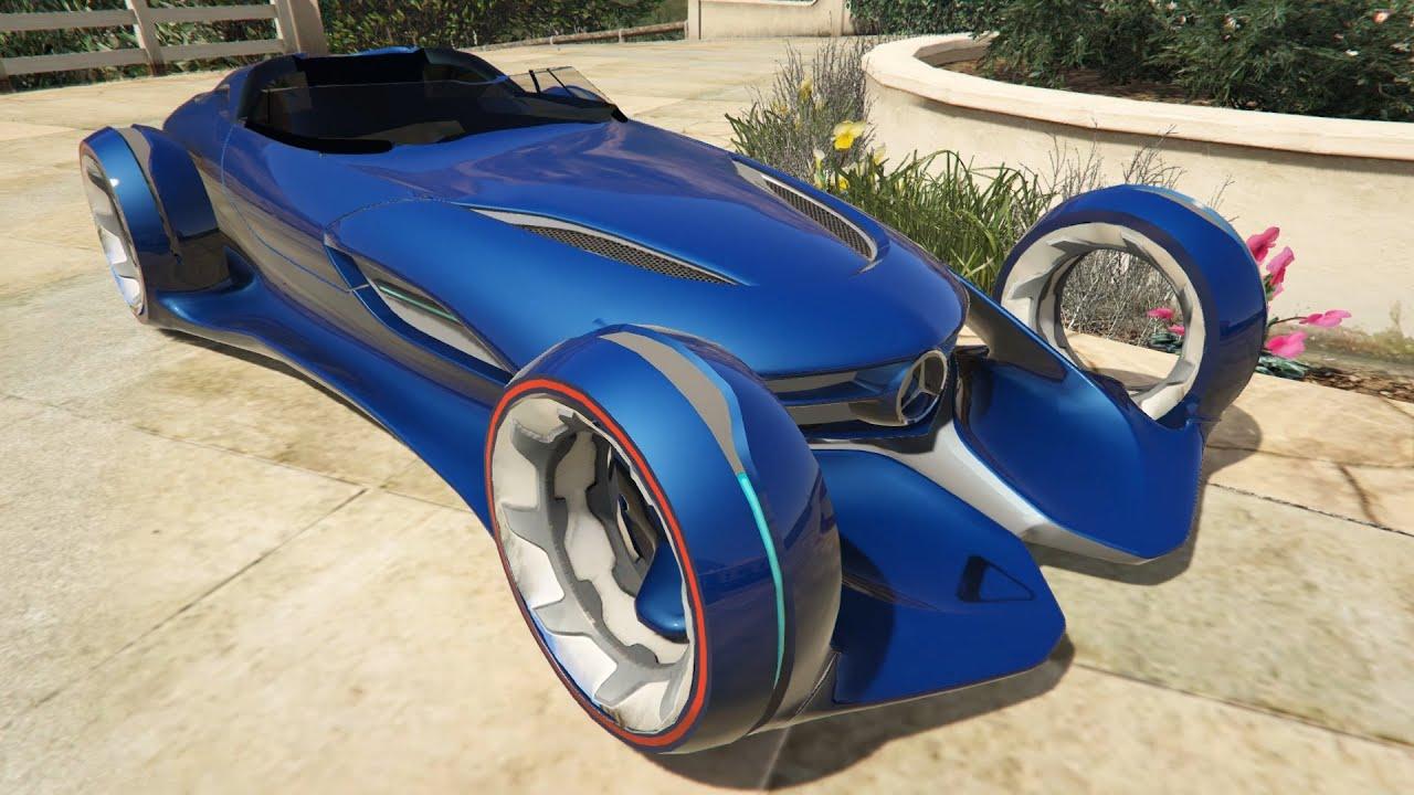 [GTA5 PC mod] Mercedes-Benz Silver Lightning Test Drive ...